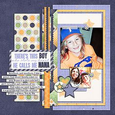 There's This Boy; Supplies: Scrap This Set One by Janet Phillips; A Little Boy by Heather Roselli Designs; Font: The Sharon; October 2016