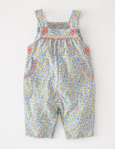 This floral-tastic dungaree is 40% off for four days! £12 #Miniboden #Boden