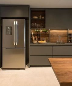 ✔ 50 creative modern kitchen cabinet design ideas for large space storage 41 ~ Ideas for House Renovations Kitchen Room Design, Luxury Kitchen Design, Contemporary Kitchen Design, Kitchen Cabinet Design, Kitchen Sets, Home Decor Kitchen, Interior Design Kitchen, Home Kitchens, Luxury Kitchens
