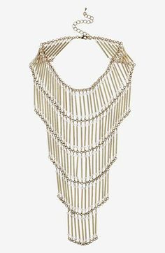 I know I'd wear this once and be bored but... Topshop Tiered Beaded Necklace | Nordstrom