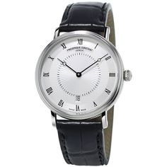 Frederique Constant FC-306MC4S36 Slimline Classics automatic stainless... (80.055 RUB) ❤ liked on Polyvore featuring men's fashion, men's jewelry, men's watches, mens stainless steel watches, mens water resistant watches and mens roman numeral watches
