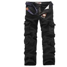 631ad7e05fc52 New men cargo pants mens Loose army tactical pants Multi-pocket trousers  pantalon homme Big Size 46 Male Military Overalls