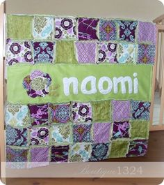 Quilt idea...like the name on a quilt