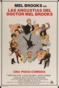 """High Anxiety (1977) Vintage Movie Poster from Argentina - Mel Brooks - 29""""x43"""""""