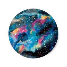 watercolor galaxy - Google Search