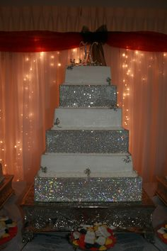 Rhinestone wedding cake