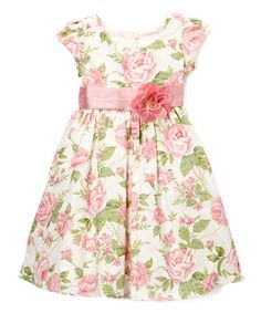 Another great find on #zulily! Dusty Rose Pleat Cap-Sleeve Dress - Kids #zulilyfinds