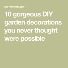 10 gorgeous DIY garden decorations you never thought were possible Diy Garden Decor, Garden Crafts, Garden Decorations, Garden Art, Garden Ideas, Amazing Gardens, Beautiful Gardens, Bike Planter, Birdcage Planter