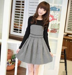 """Fashion grid knitting dress - Use the code """"batty"""" at Sanrense for 10% off your order!"""