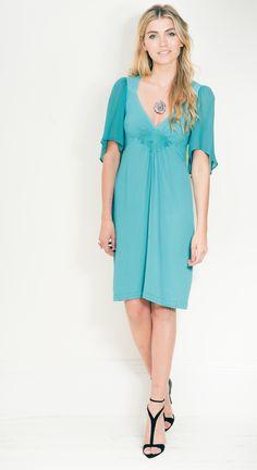 The favourite, Avalon, £155, on LUX FIX https://lux-fix.com/shop/avalon-aqua-dress-by-feather-bone