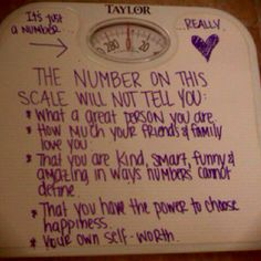 love your body... the number doesn't matter.