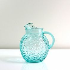 Anchor Hocking Aqua Lido Pitcher, $48, now featured on Fab.