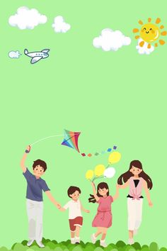 Happy Family To Travel Summer Travel, Travel With Kids, Family Travel, Cartoon Background, Background Images, Cute Family, Happy Family, Creative Poster Design, Summer Backgrounds