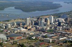 Memphis Tn Skyline Postcard Zazzle Com Memphis Skyline