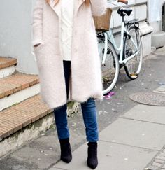 How to wear: Pastel pink coat