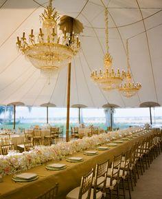 Elegant gold chandelier.  Calder Clark Designs.  A Bryan Photo.