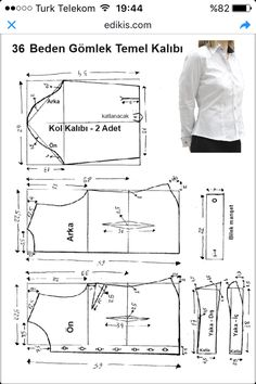 men's shirt pattern with sleeve variations free pattern diagramRead more about mens shirts♥ Deniz ♥Tap the link to check out great cat products we have for your little feline friPattern Making Fundamentals: Dart manipulation and pivot points (VIDEO)Ch Dress Sewing Patterns, Blouse Patterns, Sewing Patterns Free, Sewing Tutorials, Clothing Patterns, Collar Pattern, Top Pattern, Free Pattern, Sewing Blouses