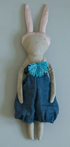 by lieschenmueller, via Flickr cute , prim ,rustic plushie bunny rabbit design