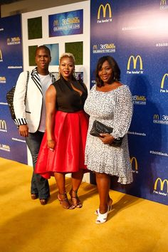 Grabbed a pic with Lawrence and Bevy Smith of VH1's Fashion Queens.