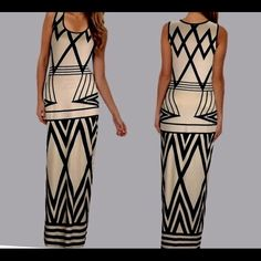 NEW Geometric design dress Bodycon dress  In stock fast delivery Dresses Maxi