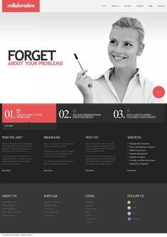 Financial website | Web Design | Pinterest