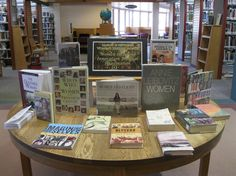"""Women's History Month 2013 - """"Women Inspiring Innovation Through Imagination"""" we didn't have many books on women in science and technology so I had to broaden my table."""