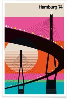 Hamburg 74 als Premium Poster von Bo Lundberg | JUNIQE