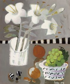 Mary Fedden (UK 1915-2012) Green Grapes (1978) oil on canvas 61 x 50.8 cm