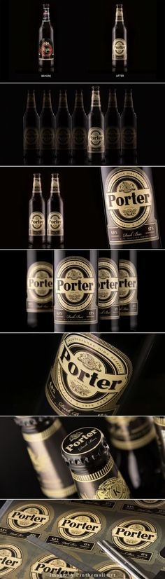 Porter Beer (Redesigned) by Fabula Branding Cool Packaging, Beer Packaging, Packaging Design, Porter Beer, Minsk Belarus, Beer Art, Beer Label, Best Beer, Beer Brewing