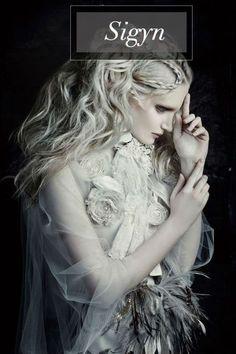 Goddess of bonds and fidelity. Wife of Loki. Norse Mythology