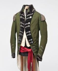 WILLIAM JARVIS UNIFORM, AN OFFICER IN THE QUEEN'S RANGERS, 1791  City of Toronto Museums Collections