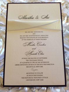 Black & White Wedding Invitation wedding by SignatureInvites