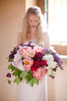 Peonies galore! http://www.stylemepretty.com/2015/06/10/the-25-prettiest-peony-bouquets/
