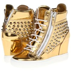 Giuseppe Zanotti RDW310 47138 LOR75 ($448) ❤ liked on Polyvore featuring shoes, sneakers, giuseppe zanotti, mirror mekong, sneakers & athletic shoes, metallic sneakers, high heel sneakers, lace up high heel shoes, metallic shoes and lacing sneakers