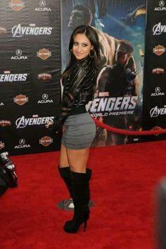 Francia Raisa, Avengers, Secret Life, American Actress, Leather Skirt, Mini Skirts, Punk, Marvel, Actresses