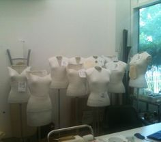 Dress forms customized for each James garment Photo by Jill Morena