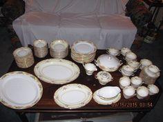 Vintage Noritake Lismore 100 Pc. Dinnerware Set Plates Serving Cream Soup picclick.com