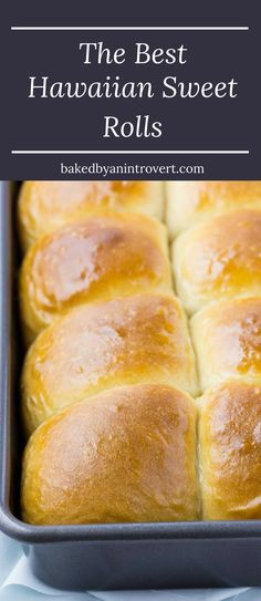 The best Hawaiian Sweet Rolls brushed with melty honey butter. And they are so easy to make!!