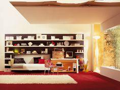 Poppi desk - cama individual embutida na horizontal