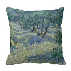 #Olive #Orchard by Vincent Van Gogh #Pillows #vangogh #throwpillow