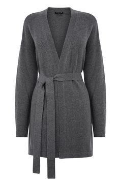 Jumpers & Cardigans | Grey BELTED CARDI | Warehouse