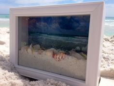 Ocean View Shadow Box 6 The Effective Pictures We Offer You About Frame Crafts fabric covered A quality picture can tell you many things. You can find the most beautiful pictures that can be presented Beach Shadow Boxes, Seashell Shadow Boxes, Diy Shadow Box, Seashell Crafts, Beach Crafts, Summer Crafts, Kid Crafts, Shells And Sand, Sea Shells