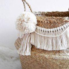 Baskets made even more beautiful by @naturamacrame #lemonadelusts