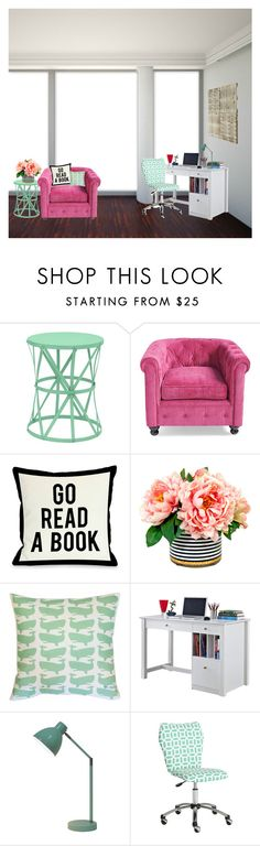 """""""READ D FOR MAJOR NEWS"""" by classicallyclaire ❤ liked on Polyvore featuring interior, interiors, interior design, home, home decor, interior decorating, Three Hands, Grandin Road, One Bella Casa and Pillowfort"""