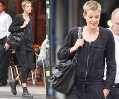Photos of Agyness Deyn Dressed in Black Jumpsuit in New York City | PopSugar UK
