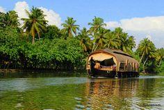 Houseboat in Kumarakom backwaters,Kerala. someone please please take me!!!