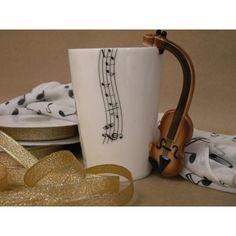 Kubek muzyczny - skrzypce - Galeria byArt