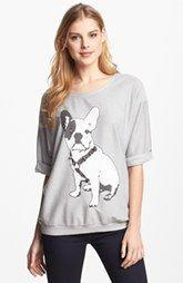 Max & Mia Studded Graphic Sweatshirt