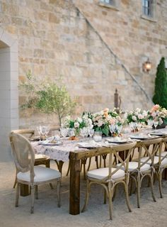 Decor Trend: Cross Back Dining Chairs / Photo by Jose Villa / See styling tips on The LANE