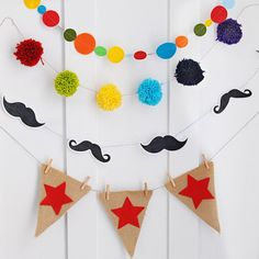NEW INSTANT DOWNLOAD The Chalkboard by pinkpeppermintprints, $6.50  Mustache Party Garland